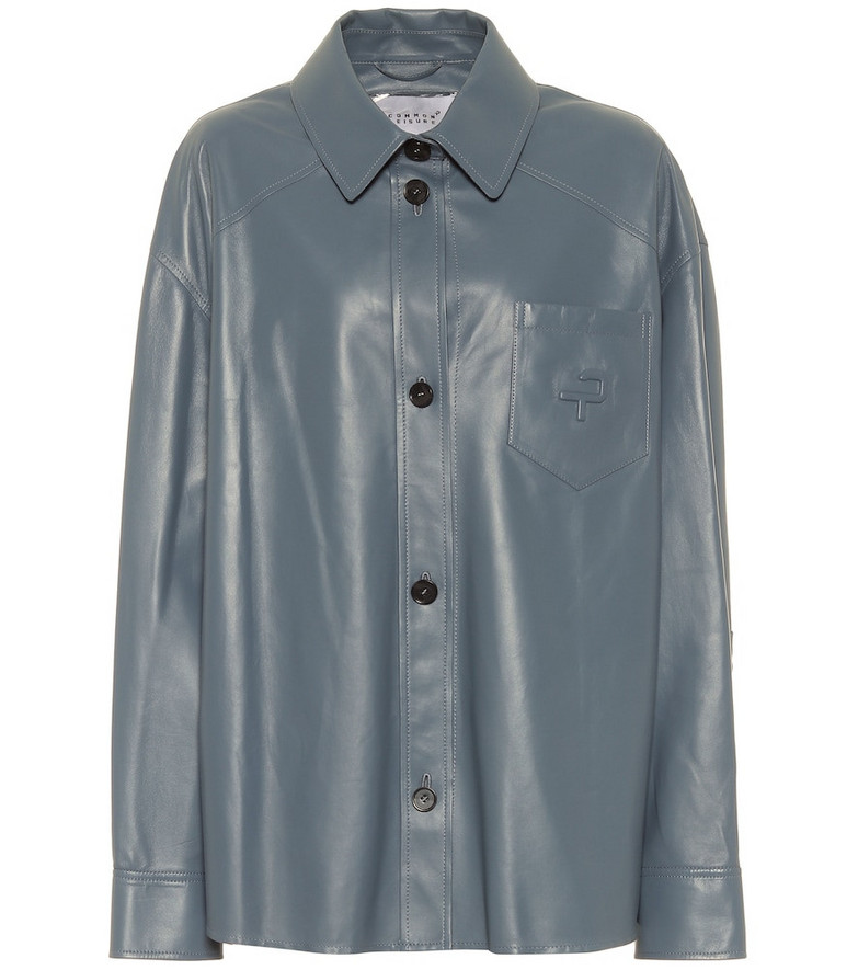 Common Leisure Leather shirt in blue