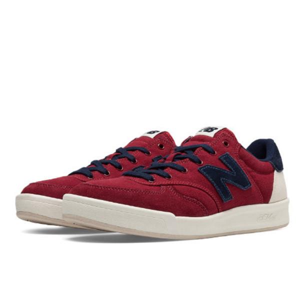 New Balance 300 Canvas Men's Court Classics Shoes Ribbon Red, Navy (CRT300BO)