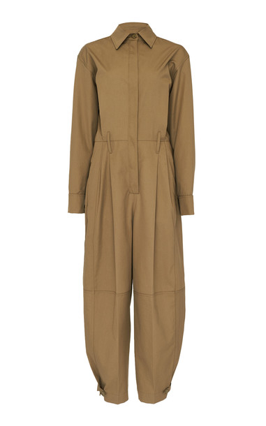 Givenchy Cotton-Gabardine Jumpsuit in brown