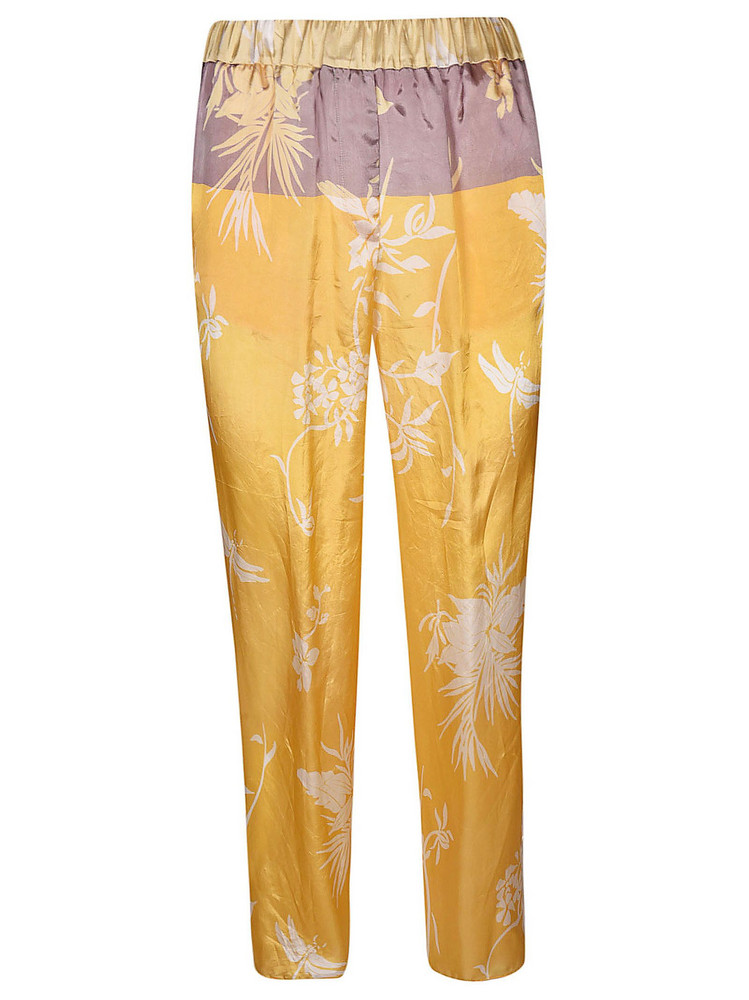 Forte Forte Printed Trousers in yellow