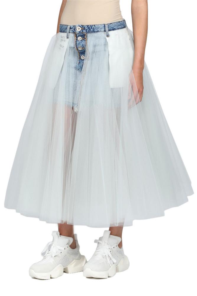 Ben Taverniti Unravel Project Skirt in denim / denim