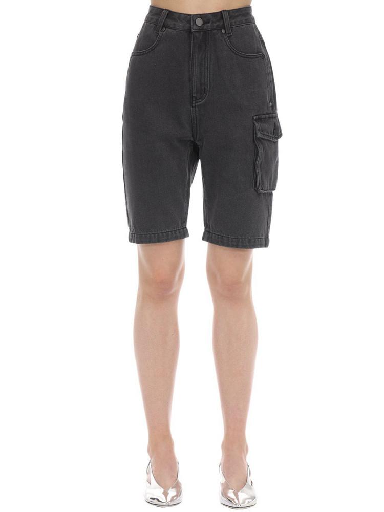 ANNAKIKI Huawei Tooling Denim Cycling Short Pants in grey