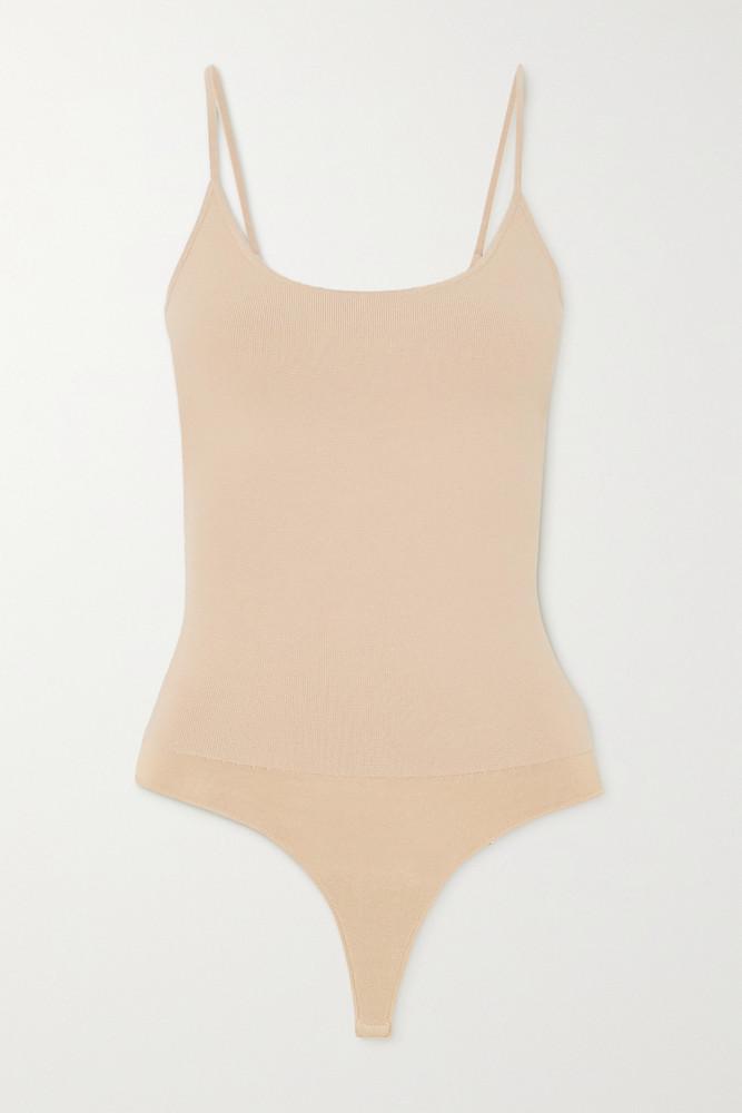 A.L.C. A.L.C. - A.l.c. X Petra Flannery Mara Stretch-knit Bodysuit - Neutrals