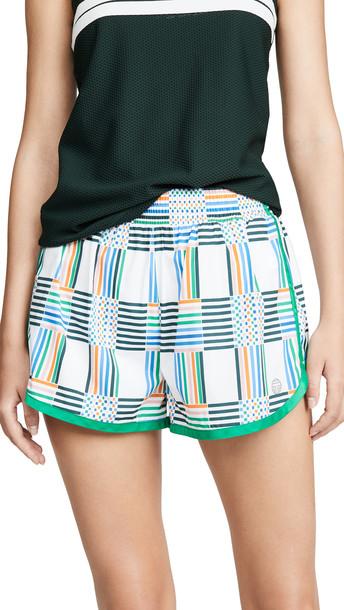 Tory Sport Printed Nylon Running Shorts in white