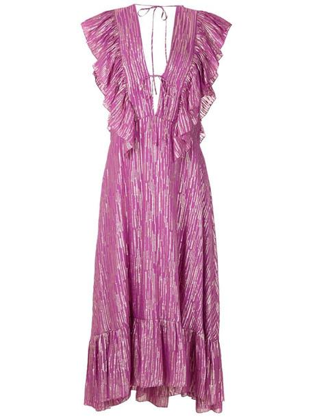 Reinaldo Lourenço ruffled midi dress in pink