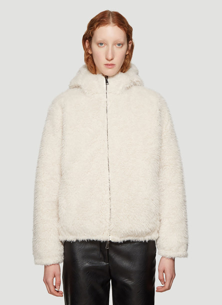 Moncler Kolima Padded Jacket in White size 2