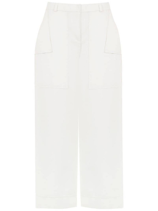 Mara Mac high waisted culottes in white