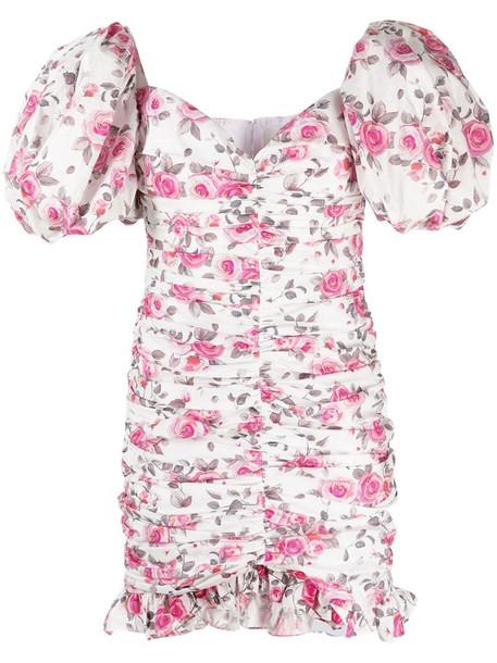 Giuseppe Di Morabito floral-print puff-sleeve mini dress