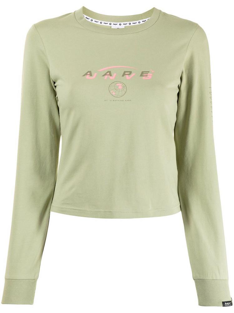 AAPE BY *A BATHING APE® AAPE BY *A BATHING APE® cropped logo sweatshirt - Green