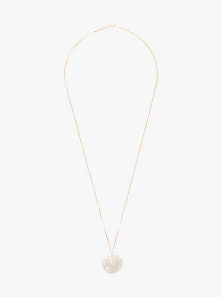 Alighieri metallic gold and sterling silver The Other Side of the World necklace