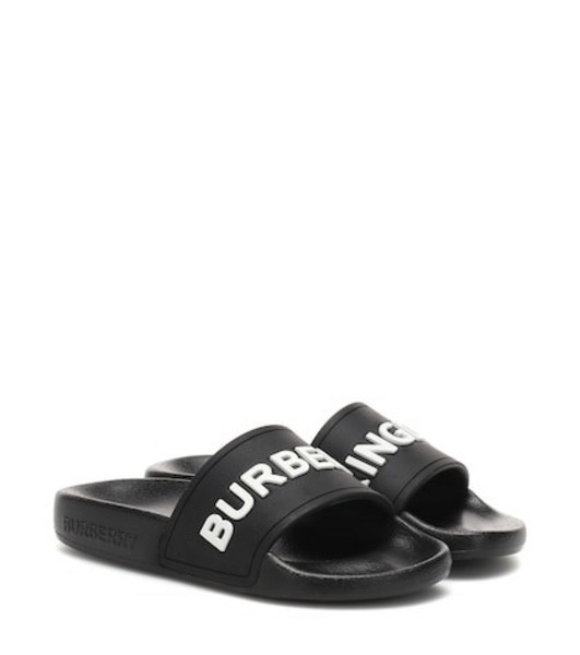 Burberry Kids Burberry Kingdom slides in black