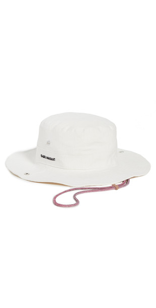 Isabel Marant Caviano Bucket Hat in ecru