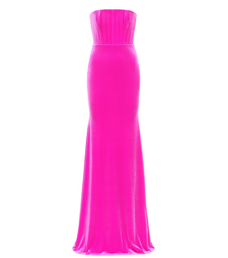 Alex Perry Payson velvet gown in pink