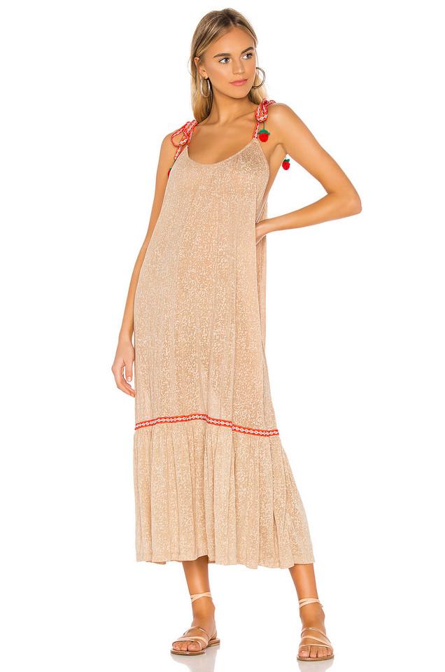 Pitusa Tie Up Dress in tan