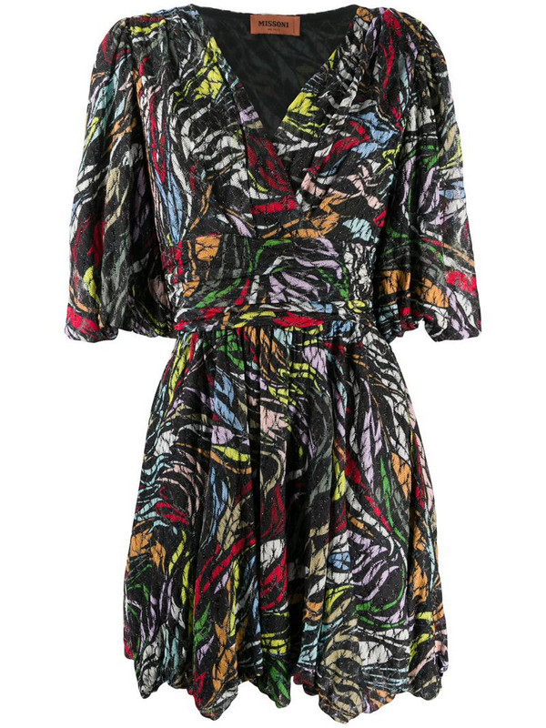 Missoni abstract knit dress in black