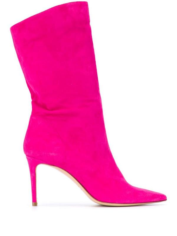 Giuliano Galiano Helena 85mm mid-calf boots in pink