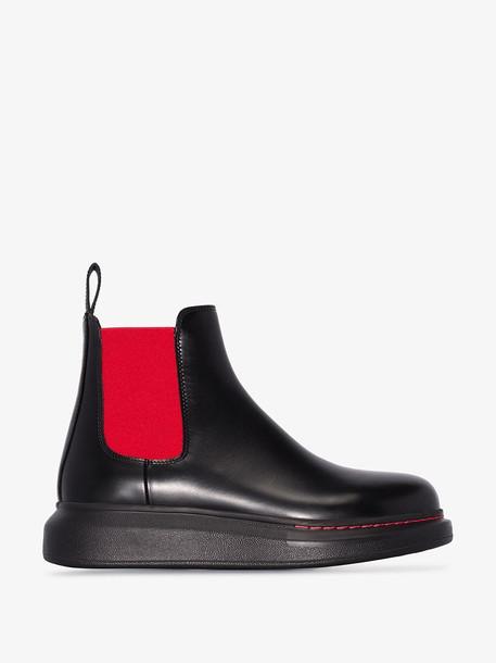Alexander McQueen leather chelsea boots in black