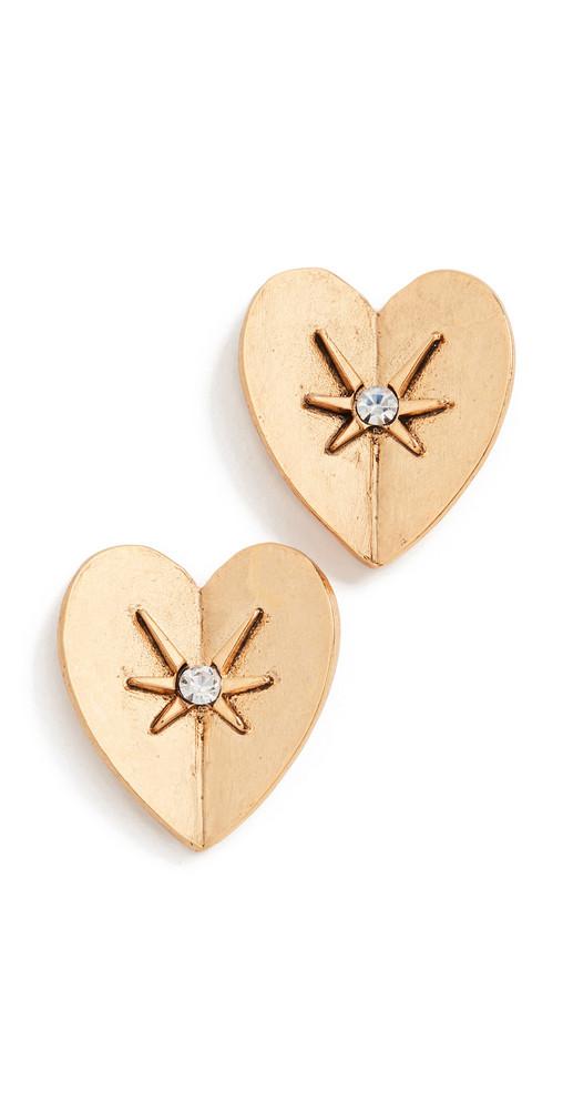 Jennifer Behr Romie Stud Earrings in gold