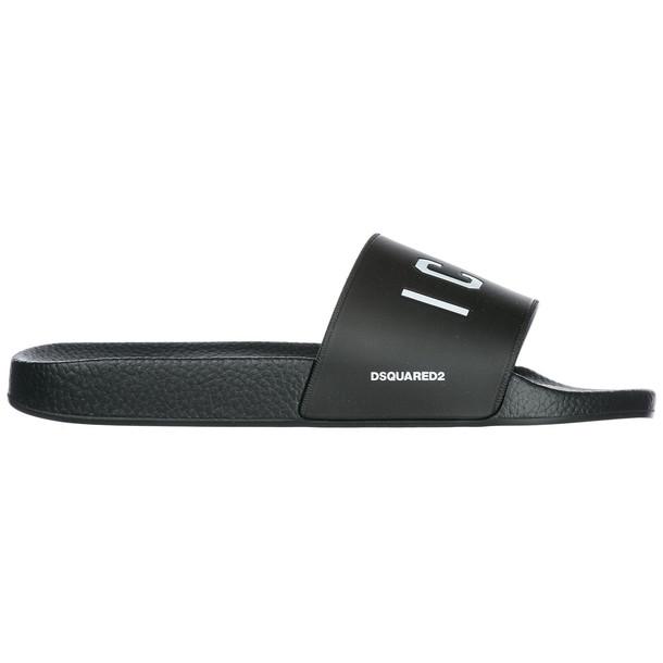 Dsquared2 Men's Slippers Sandals Rubber Icon in nero