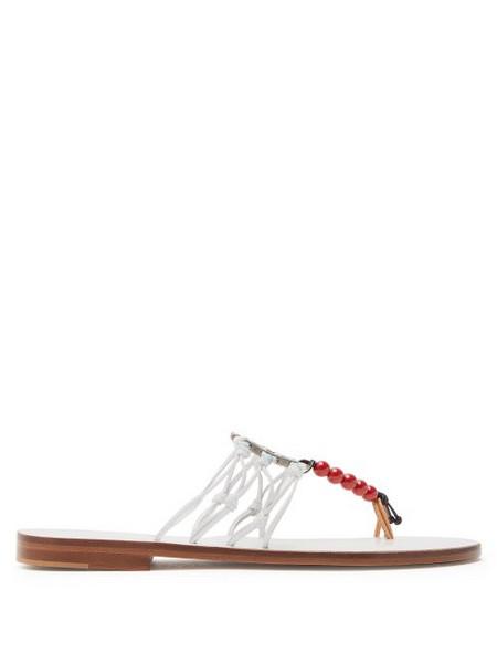 Álvaro Álvaro - X Kim Hersov Art Leather Sandals - Womens - White