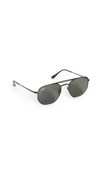 Ray-Ban 0RB360 Square Aviator Sunglasses in black