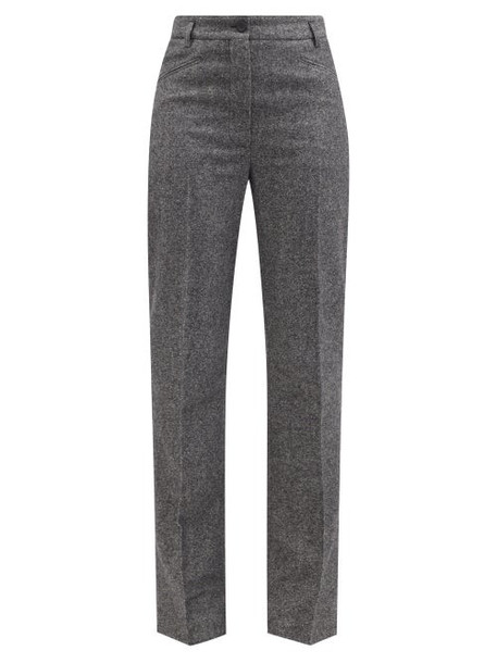 Acne Studios - Tailored Straight-leg Trousers - Womens - Mid Grey