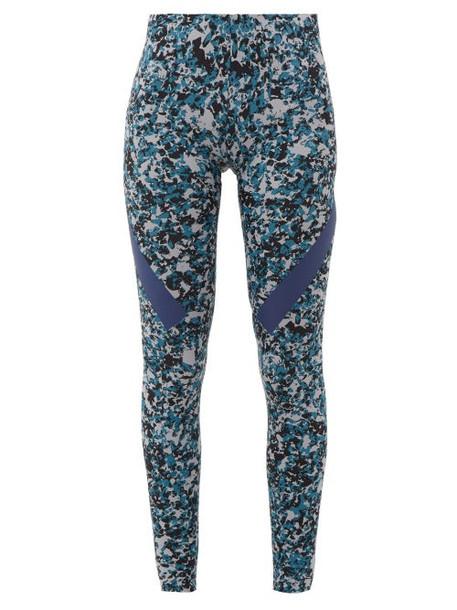 Adidas By Stella Mccartney - Alphaskin 360 Camo Print Leggings - Womens - Grey