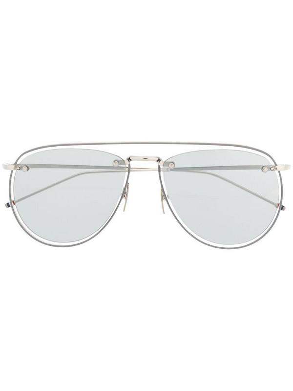 Thom Browne Eyewear aviator sunglasses in silver