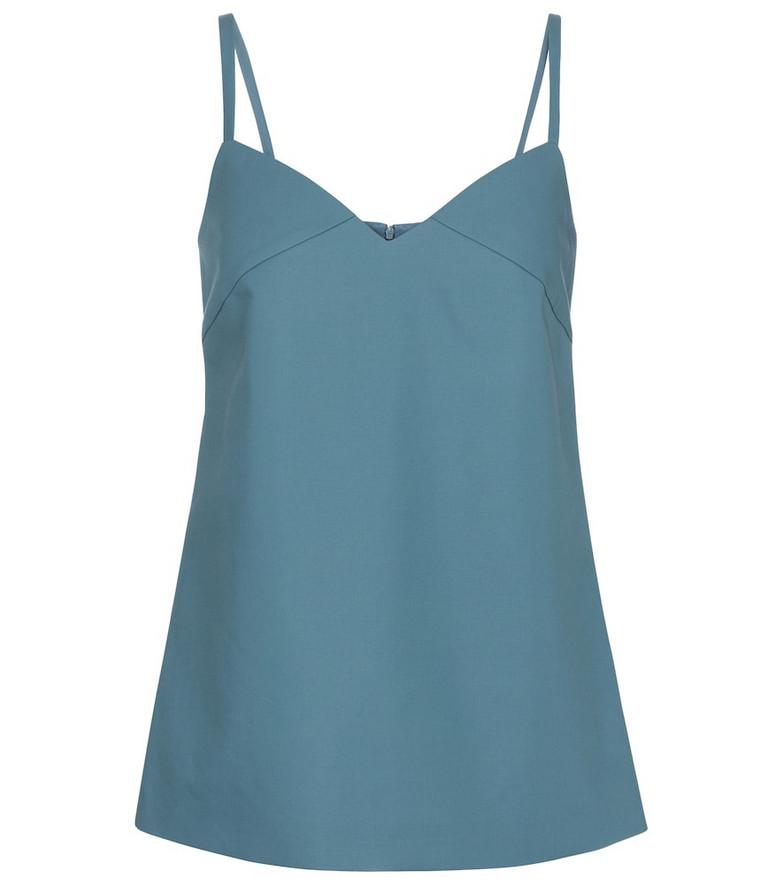 Max Mara Austria cotton and gabardine camisole in blue