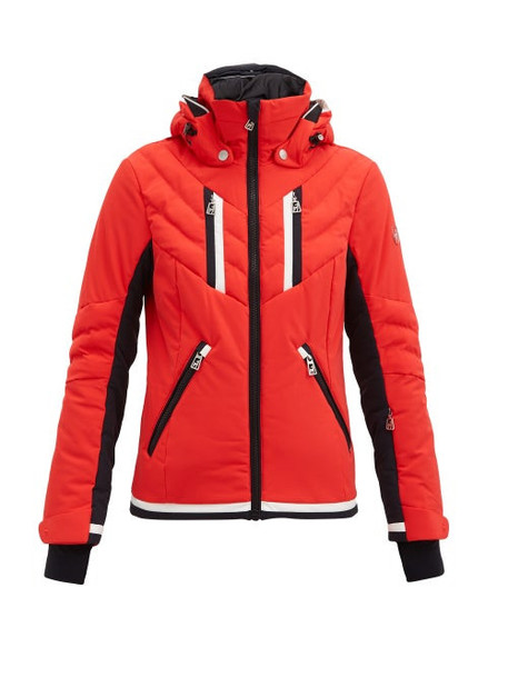 Toni Sailer - Henni Padded Hooded Ski Jacket - Womens - Red Multi