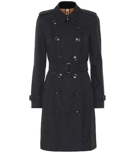 Burberry Cotton gabardine trench coat in blue