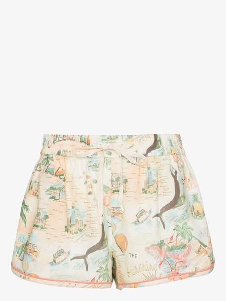 Zimmermann Kirra elasticated waist print shorts