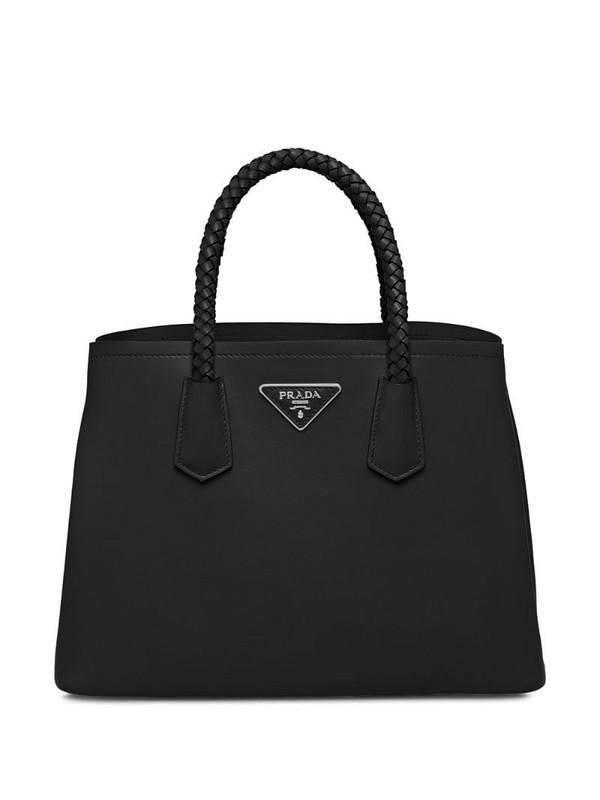 medium Prada Double tote bag in black