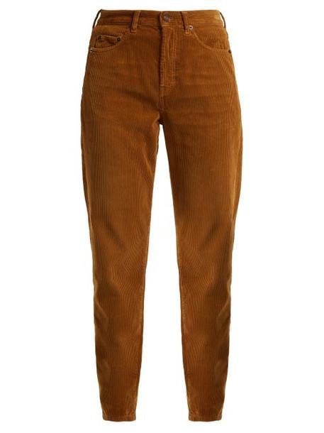 Saint Laurent - Straight Leg Corduroy Jeans - Womens - Light Brown