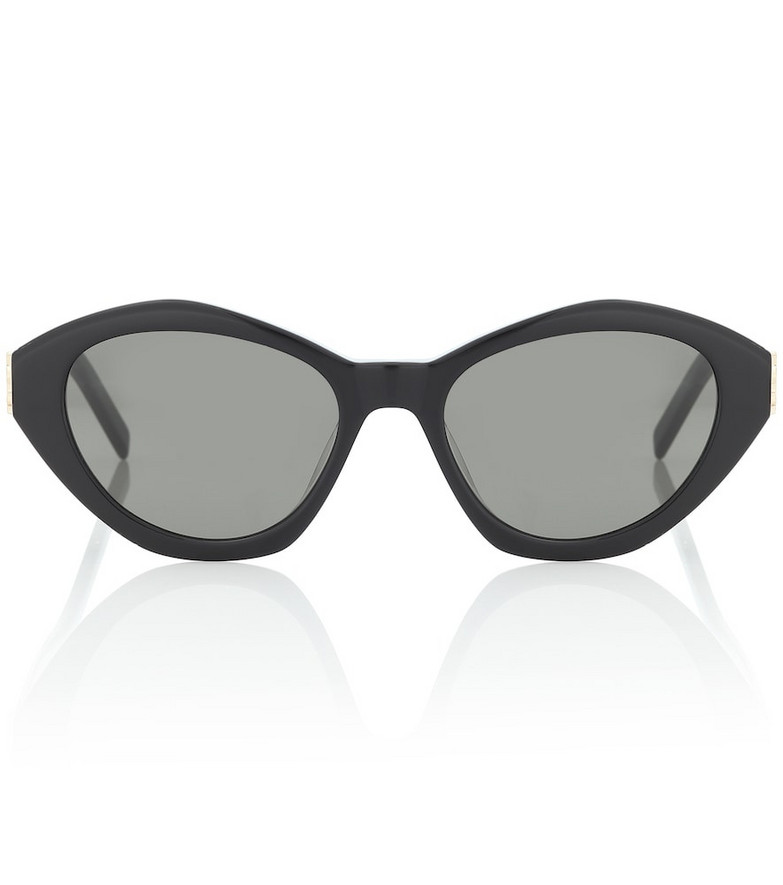 Saint Laurent M60 oval sunglasses in black