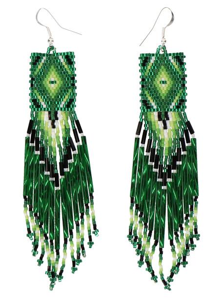 Jessie Western Earrings in green