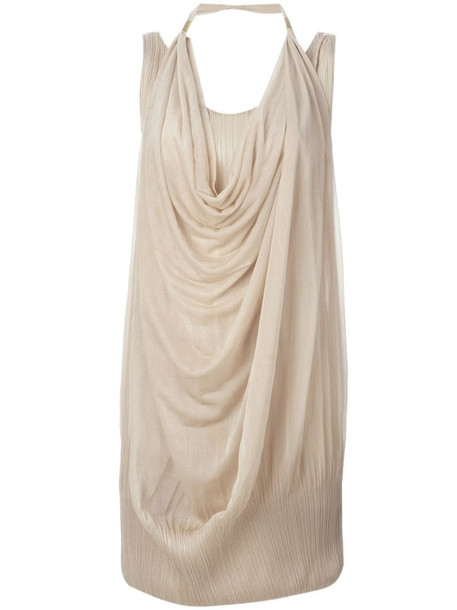Issey Miyake Pre-Owned draped dress in neutrals