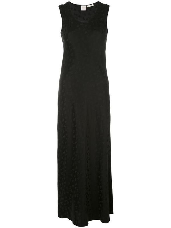 Zanini floral jacquard maxi dress in black