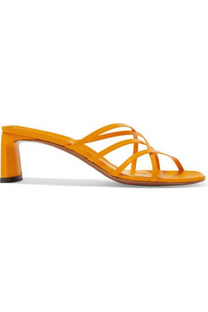 Neous - Mannia Leather Sandals - Orange
