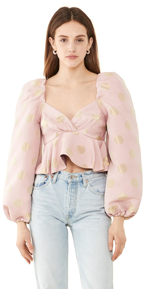 Sister Jane Sparkle Seed Jacquard Top in pink