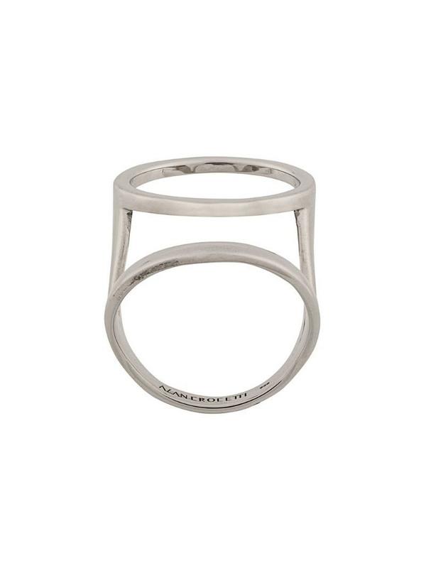 Alan Crocetti double hoop ring in silver