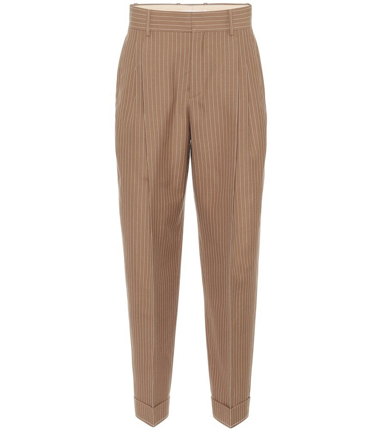 Chloé Virgin wool high-rise pants in brown