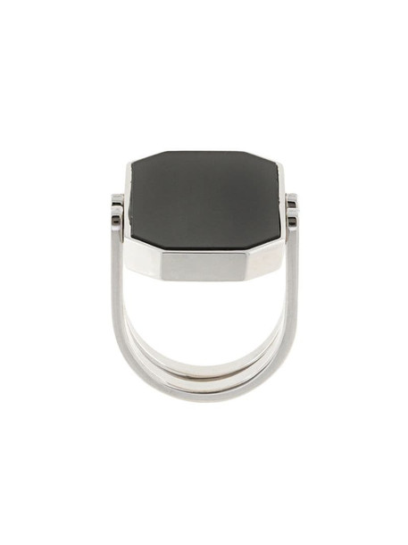 Julia Davidian convertible octagonal ring in silver