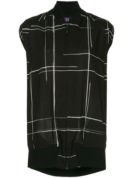 Y's sleeveless bomber jacket in black