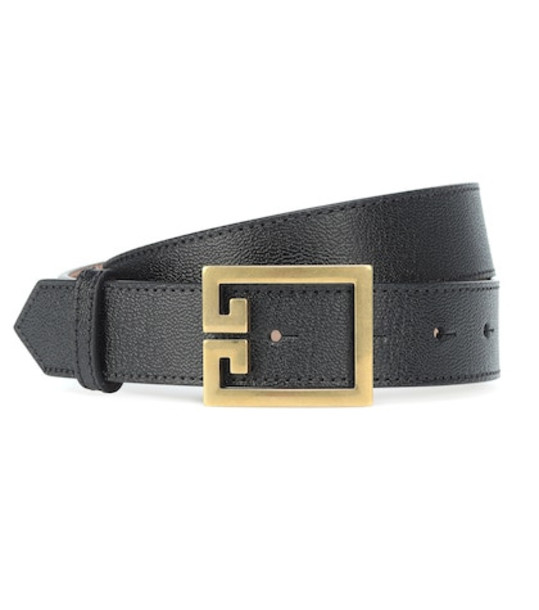 Givenchy Double G leather belt in black