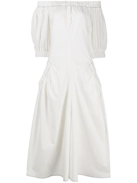 Rejina Pyo off-shoulder flared dress in white