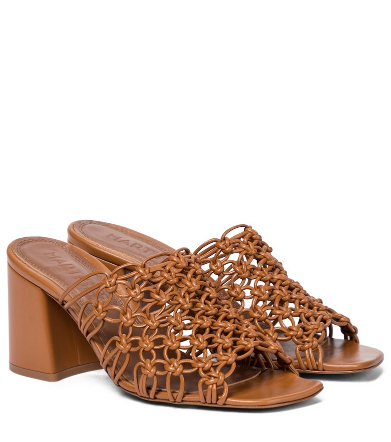 Souliers Martinez Lana 75 leather sandals in brown
