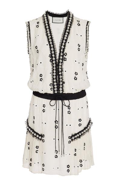 Alexis Isma Embellished Chiffon Mini Dress in print