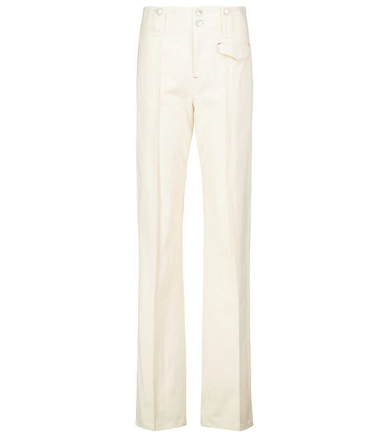 Isabel Marant Dilirok straight-leg cotton pants in neutrals