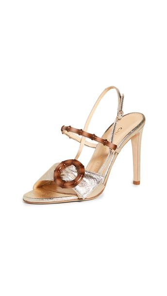 Chloe Gosselin Celeste Open-Toe Sandals in gold